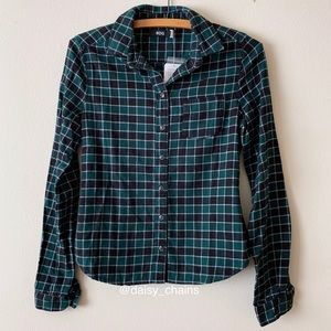 BDG Fitted Flannel Shirt